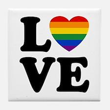 Gay Love Tile Coaster