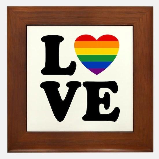 Gay Love Framed Tile