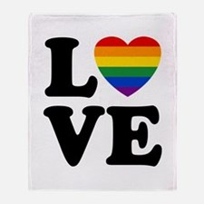 Gay Love Throw Blanket