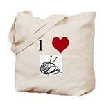 I Heart Yarn Ball Tote Bag