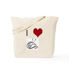 I Heart Yarn Ball Tote Bag