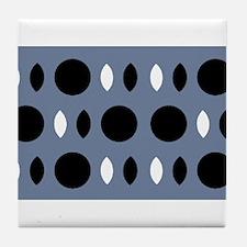 Almond Eye Shapes Grey Gray Designer Tile Coaster