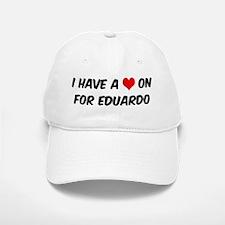 Heart on for Eduardo Baseball Baseball Cap