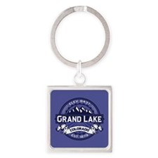 Grand Lake Midnight Square Keychain