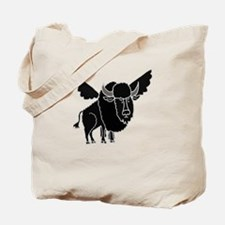 Funny Buffalo with Wings Tote Bag