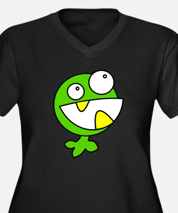 Cute Green Baby Monster Plus Size T-Shirt
