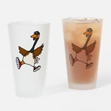 Cute Silly Goose Drinking Glass