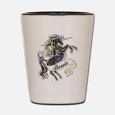 Bowie Tartan Unicorn Shot Glass