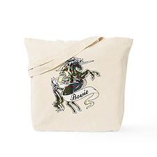 Bowie Tartan Unicorn Tote Bag
