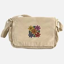 Colorful Daisy Floral Art Messenger Bag