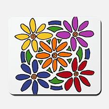 Colorful Daisy Floral Art Mousepad