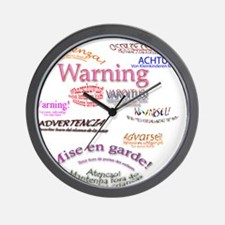 Warning Wall Clock
