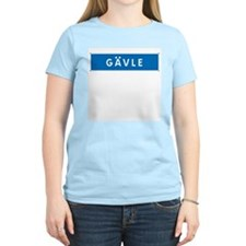 Road Marker Gävle - Sweden Women's Pink T-Shirt