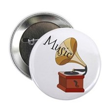 """Music 2.25"""" Button (100 pack)"""