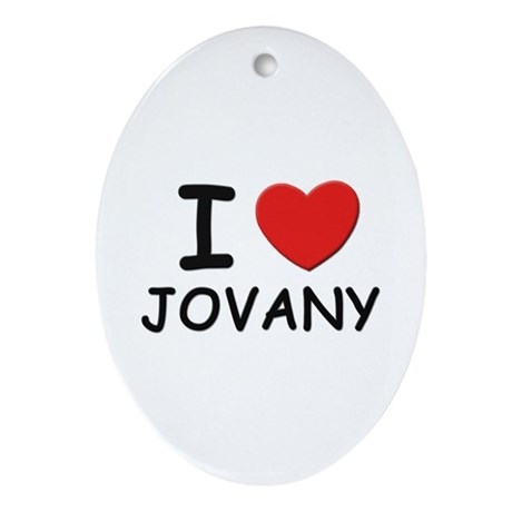 I love Jovany Oval Ornament