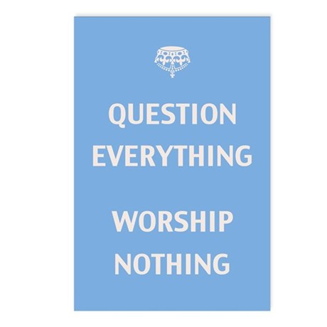 Question Everything Postcards (Package of 8)