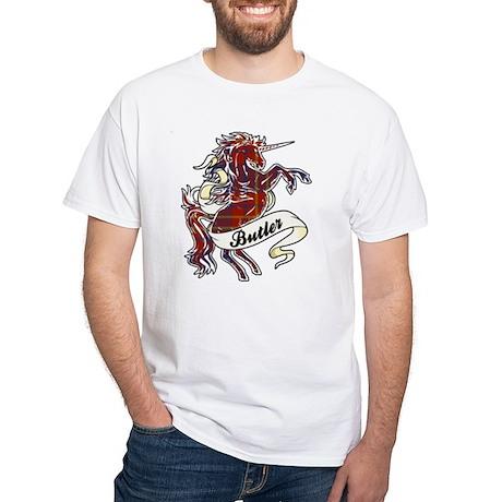 Butler Unicorn White T-Shirt