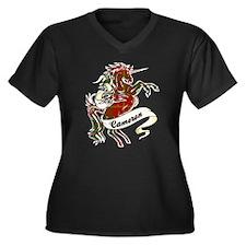 Cameron Unic Women's Plus Size V-Neck Dark T-Shirt