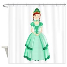 Green Princess Shower Curtain