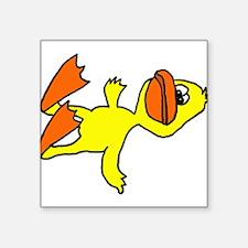Funny Dead Duck Cartoon Sticker