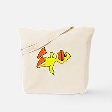 Funny Dead Duck Cartoon Tote Bag