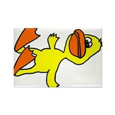 Funny Dead Duck Cartoon Rectangle Magnet