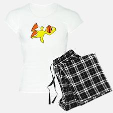 Funny Dead Duck Cartoon Pajamas
