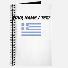 Custom Greece Flag Journal