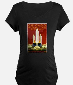 Vintage Chicago Worlds Fair Maternity T-Shirt