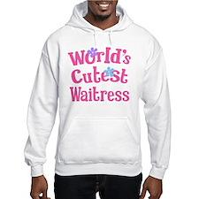 Worlds Cutest Waitress Hoodie