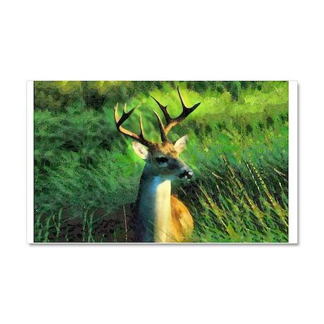 Buck Deer Car Magnet 20 x 12