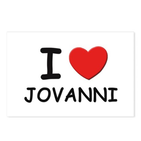 I love Jovanni Postcards (Package of 8)