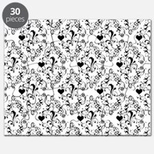 Black & White Damask #21a Puzzle