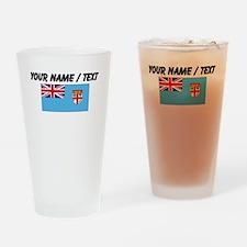 Custom Fiji Flag Drinking Glass