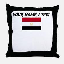 Custom Egypt Flag Throw Pillow