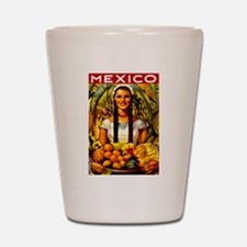 Vintage Mexico Fruit Travel Shot Glass