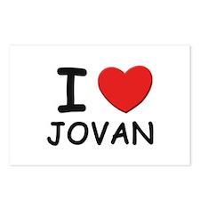 I love Jovan Postcards (Package of 8)