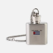 Custom Cuba Flag Flask Necklace