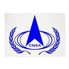 China National Space Administration 5'x7'Area Rug