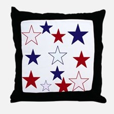 Stars for the 4th Throw Pillow