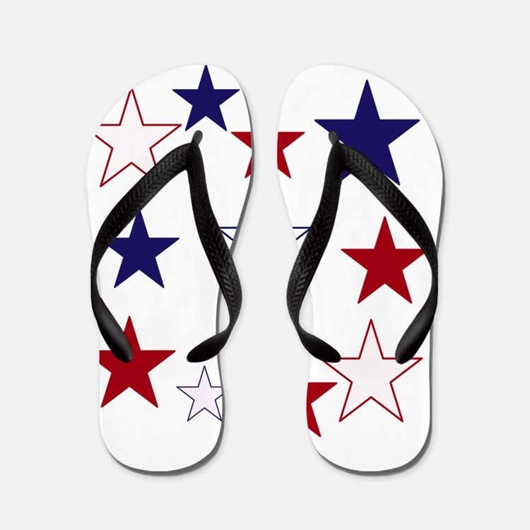Stars for the 4th Flip Flops