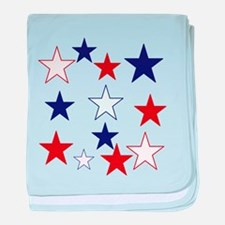 Stars for the 4th baby blanket