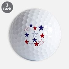 Stars for the 4th Golf Ball
