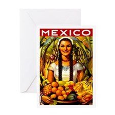 Vintage Mexico Fruit Travel Greeting Card