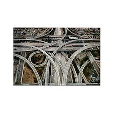 Highway LA Rectangle Magnet