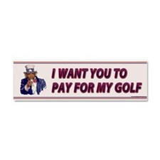 I Want You To Pay For My Golf Car Magnet 10 x 3
