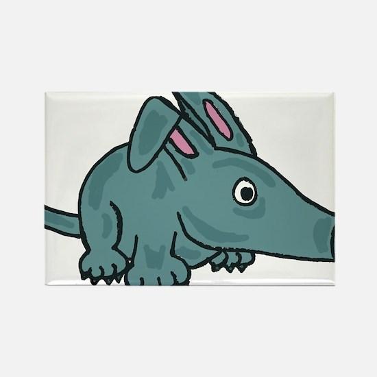 Funky Aardvark Rectangle Magnet
