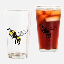 Yellow Jacket Art Drinking Glass