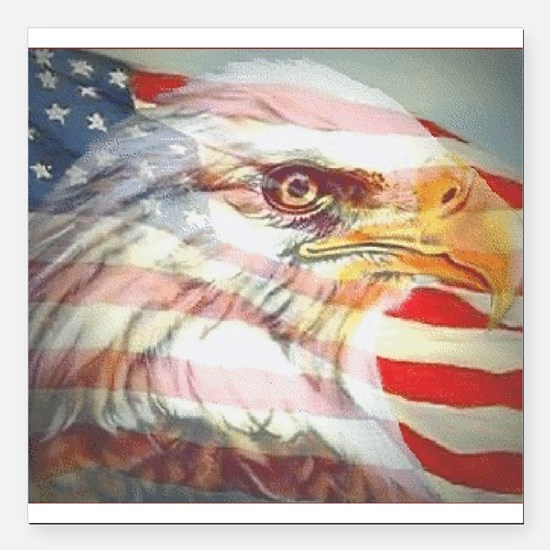 """4th of july Square Car Magnet 3"""" x 3"""""""