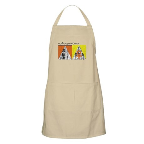 female symbols and words carry strength Apron